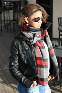 RED/PLAID - WOOL