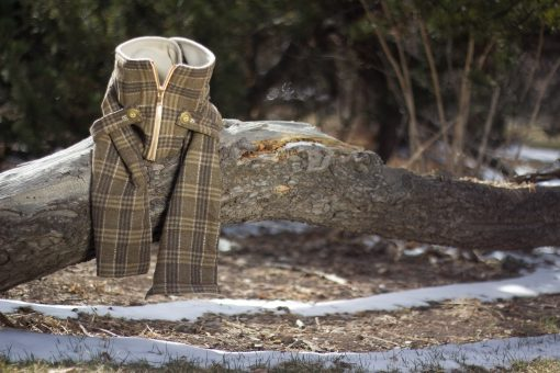 Beige Plaid Wool Posa